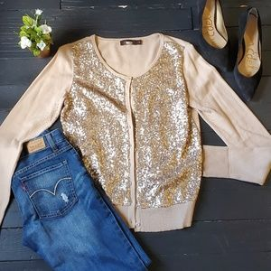 The limited 100% cotton Sequined Cardigan